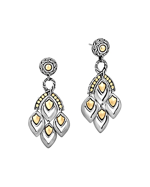 John Hardy Naga Gold and Silver Chandelier Earrings