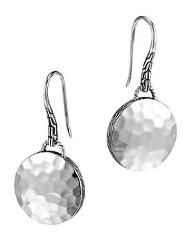JOHN HARDY - John Hardy Palu Sterling Silver Round Drop Earrings