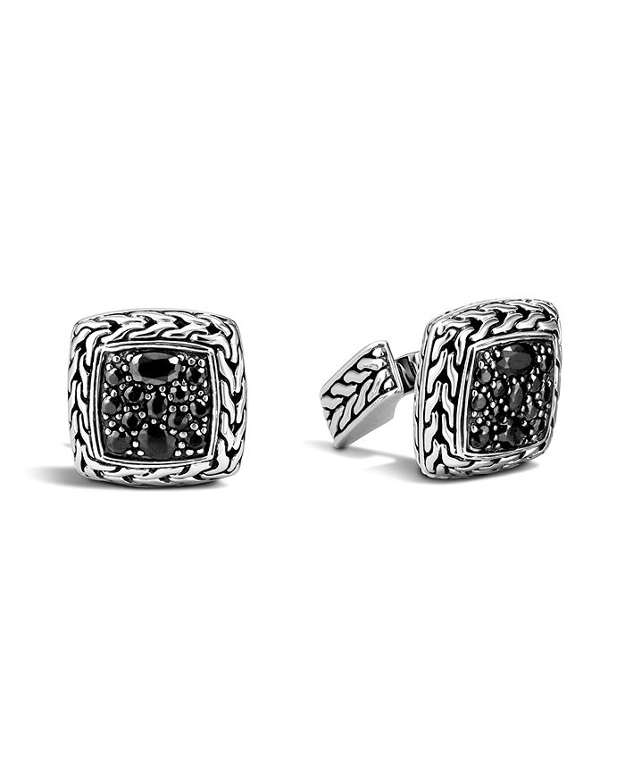 JOHN HARDY - John Hardy Men's Classic Chain Square Cufflinks with Black Sapphires