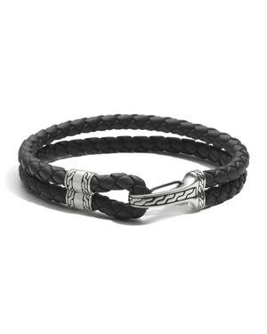 John Hardy Men's Sterling Silver Classic Chain Hook Station Bracelet