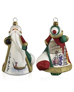 Joy to the World - Glitterazzi International Santa Italy Ornament