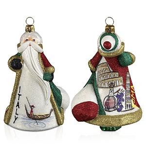 Joy to the World Glitterazzi International Santa Italy Ornament
