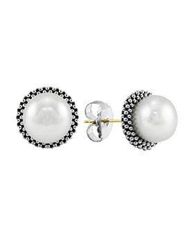 LAGOS - Sterling Silver Luna Pearl 8mm Stud Earrings