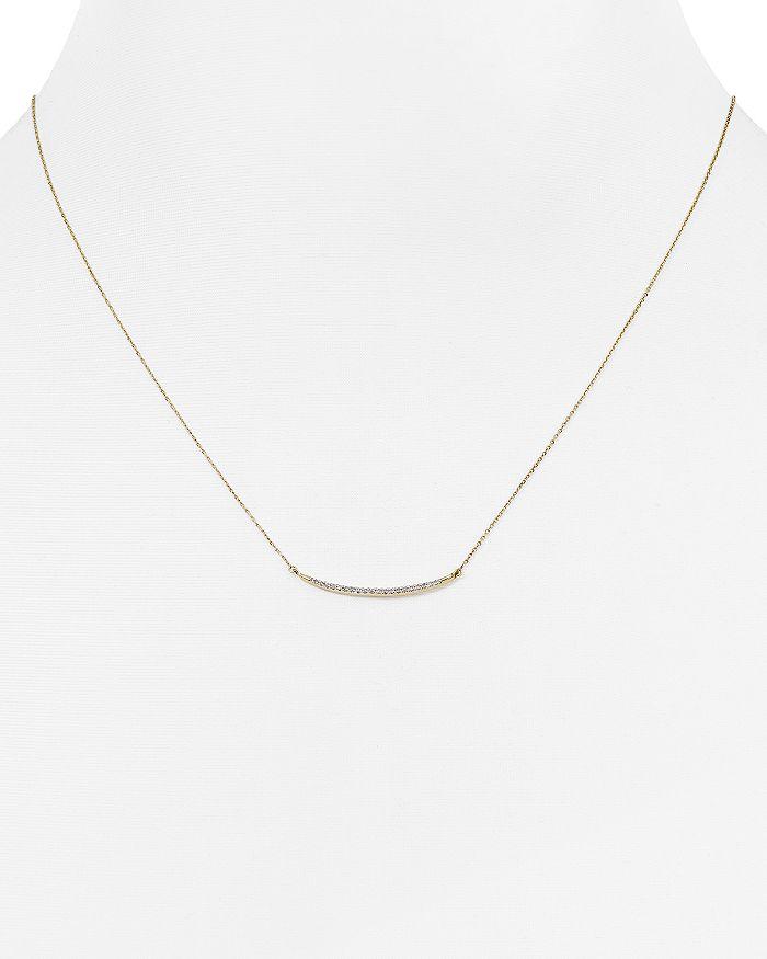 """Adina Reyter - Diamond Pavé Curve Pendant Necklace, 17"""""""