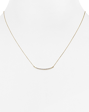 Adina Reyter Diamond Pave Curve Pendant Necklace, 17