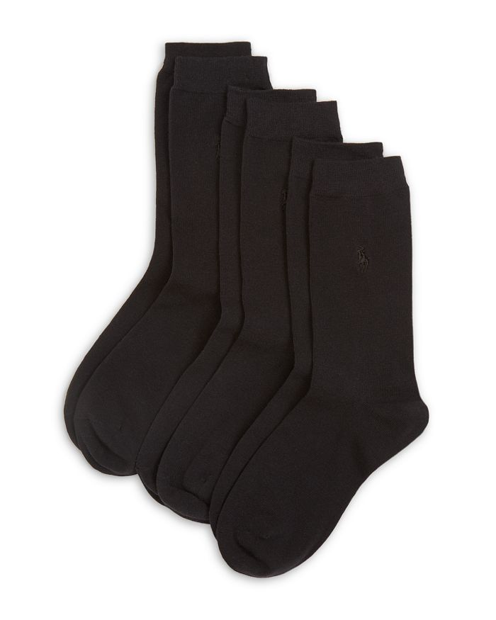Ralph Lauren - Classic Flat Knit Socks, Set of 3