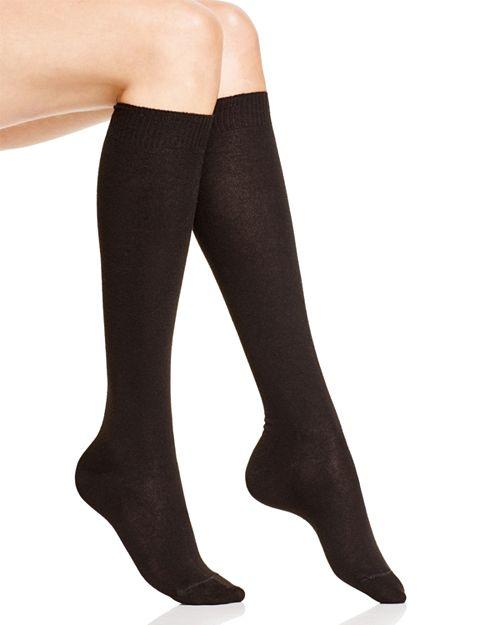HUE - Flat Knit Knee Socks