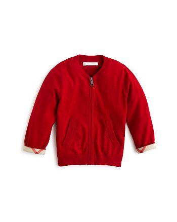 Burberry - Boys' Zip-Up Cardigan Sweater - Baby