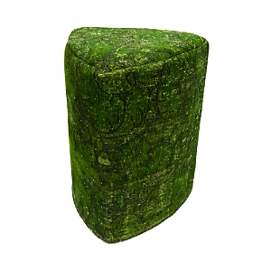 Bloomingdale's Vintage Carpet Ottoman, Green