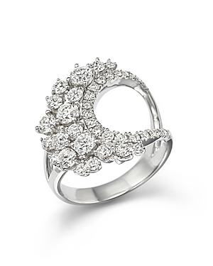 Diamond Cluster Statement Ring in 14K White Gold, 1.85 ct. t.w. - 100% Exclusive