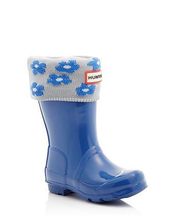 Hunter - Girls' Gloss Original Kids Classic Rain Boots & Socks