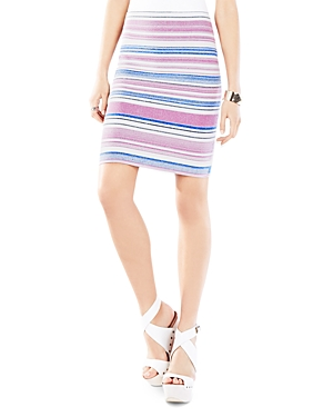 Bcbgmaxazria Pavel Striped Jacquard Sweater Skirt