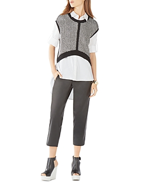 Bcbgmaxazria Jordynne Reversible Cropped Sweater