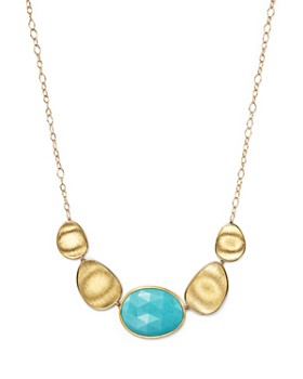 """Marco Bicego - 18K Yellow Gold Turquoise Necklace, 16.5"""""""