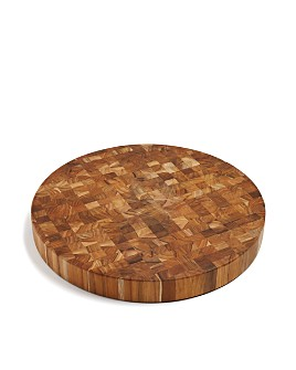 Teakhaus by Proteak - Butcher Block Circle End-Grain Cutting Board