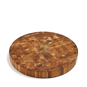 Teakhaus by Proteak Butcher Block Circle End-Grain Cutting Board