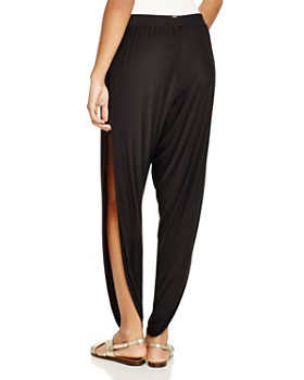 Laundry by Shelli Segal - Solid Draped Swim Cover-Up Pants