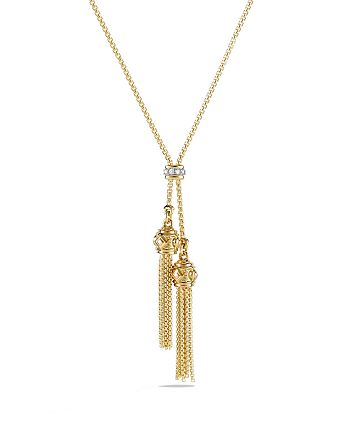 David Yurman - Renaissance Petite Necklace with Diamonds in 18K Gold