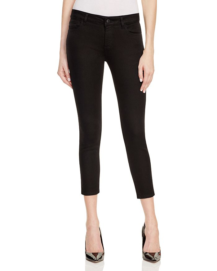 DL1961 - Florence Instasculpt Cropped Skinny Jeans in Hail