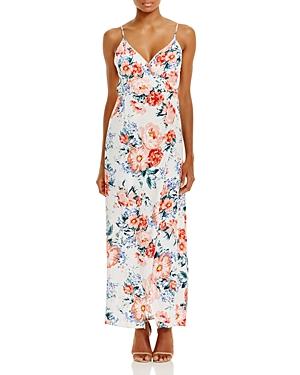 Minkpink Little Blooms Printed Wrap Effect Maxi Dress