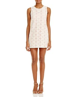 Aqua Crocheted Overlay Dress - 100% Exclusive