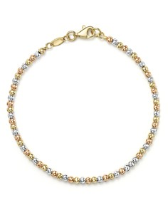 Bloomingdale's - 14K Yellow, White and Rose Gold Beaded Bracelet - 100% Exclusive