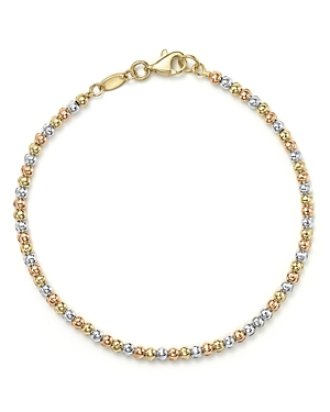 14K Yellow, White and Rose Gold Beaded Bracelet - 100% Exclusive