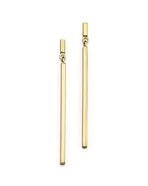 Click here for 14K Yellow Gold Square Stick Drop Earrings - 100 E... prices