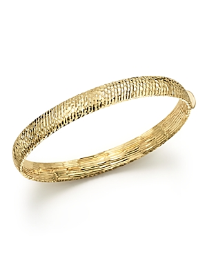 14K Yellow Gold Polished Hinge Bangle - 100% Exclusive