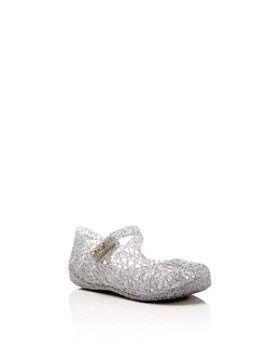 1bac0b67b91b Mini Melissa - Girls  Campana Glitter Zigzag Mary Jane Flats - Walker