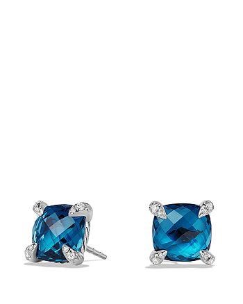 David Yurman - Châtelaine Earrings with Hampton Blue Topaz and Diamonds