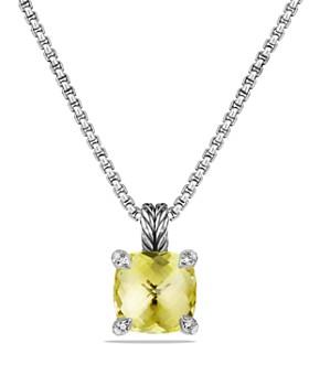 David Yurman - Châtelaine Pendant Necklace with Lemon Citrine and Diamonds