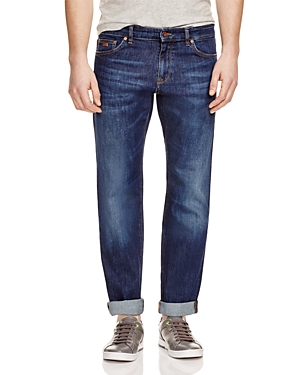 Boss Maine Stretch Straight Fit Jeans in Indigo