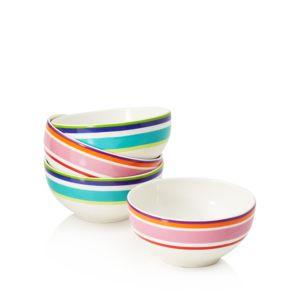 kate spade new york Wickford Stripe Dessert Bowls, Set of 4 - 100% Exclusive