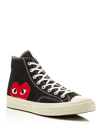 save off 15451 113bc Comme Des Garcons PLAY - Men s Converse Chuck Taylor High Top Sneakers