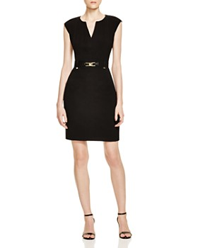 9d60dde7a0b Calvin Klein - Buckled Sheath Dress ...