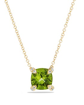 David Yurman - Châtelaine Pendant Necklace with Peridot and Diamonds in 18K Gold