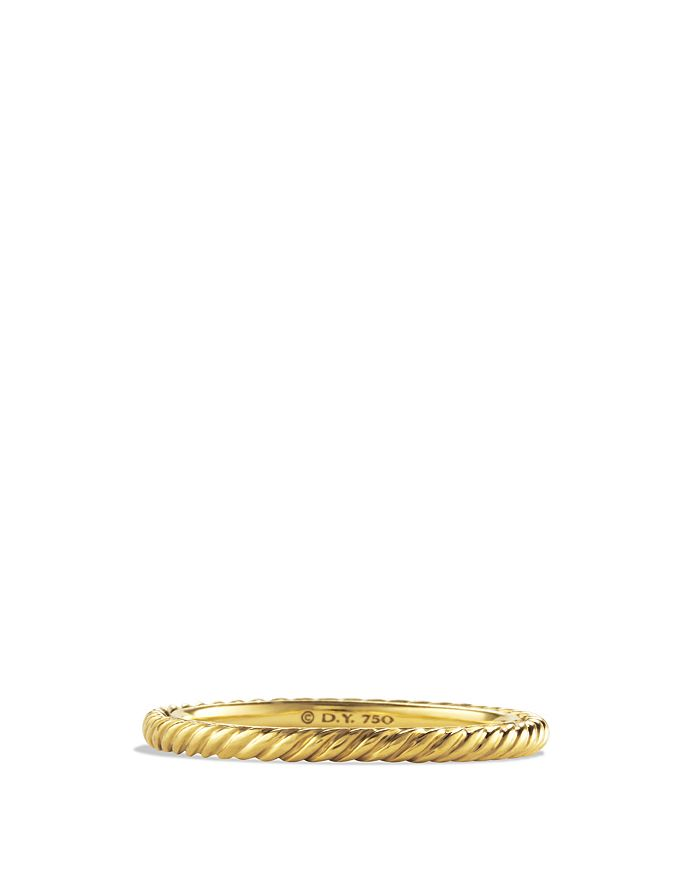 David Yurman - Cable Classics Band Ring in 18K Gold