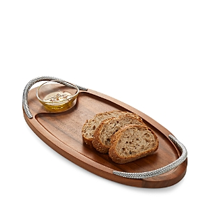 Nambe Braid Serving Board with Dish