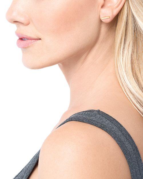 Gorjana Taner Bar Stud Earrings