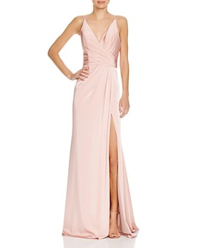 Faviana Couture - Faille Satin Draped Gown