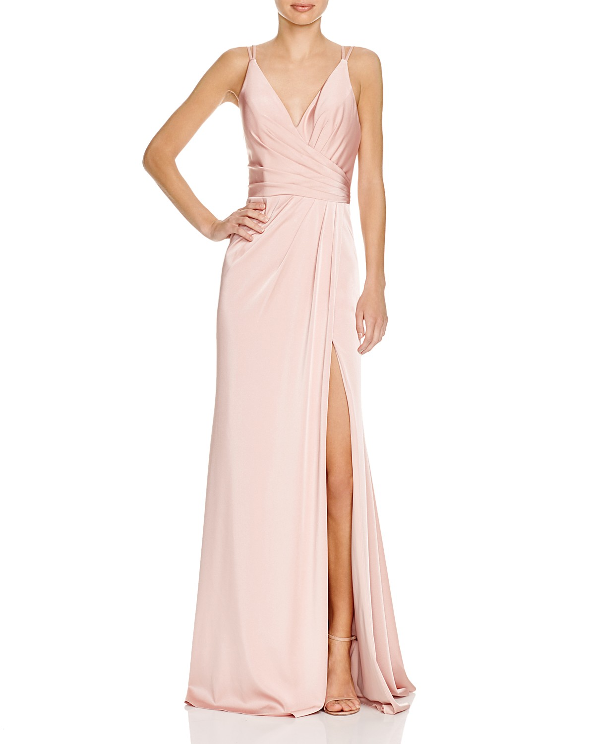 Faviana Couture Faille Satin Draped Gown | Bloomingdale\'s