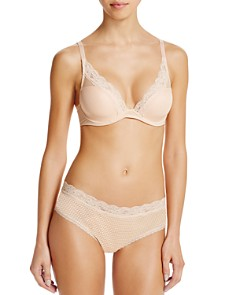 Passionata By Chantelle - Plunge Lace T-Shirt Bra & Hipster