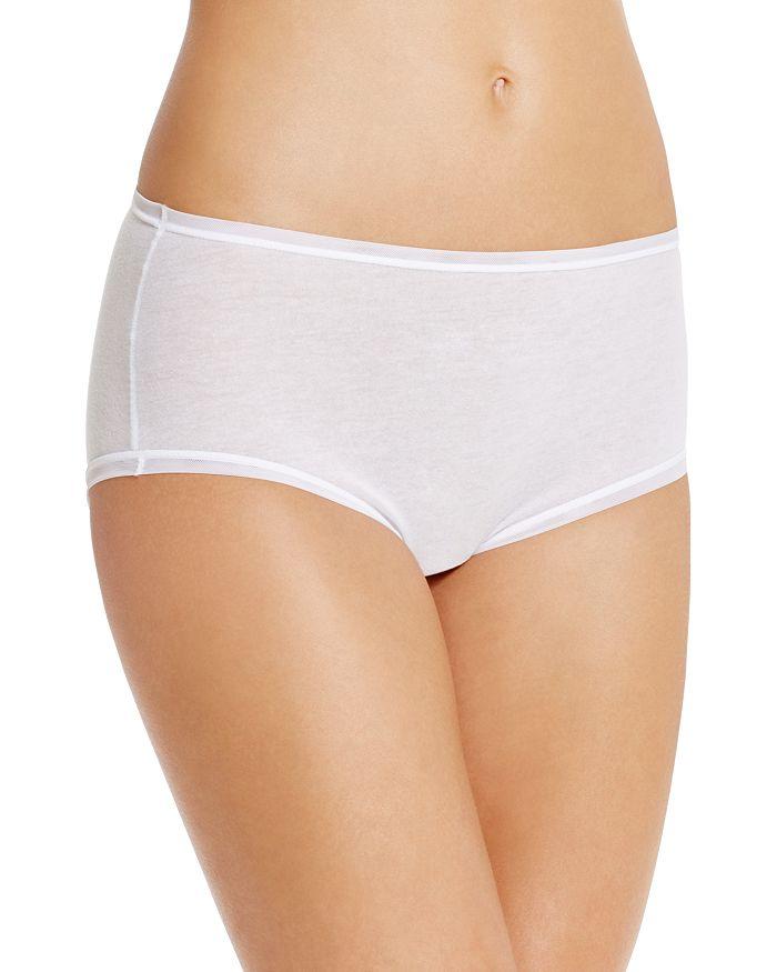 Fine Lines Pure Cotton Briefs In White