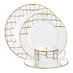 Domenico Vacca by Prouna - Alligator Gold Dinnerware