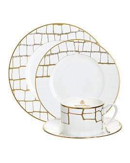 Domenico Vacca by Prouna - Alligator Gold Dinnerware