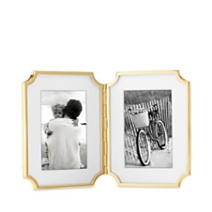 "kate spade new york Sullivan Street Gold Hinged Double Frame, 4"" x 6"" - Bloomingdale's_0"