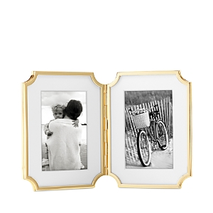 kate spade new york Sullivan Street Gold Hinged Double Frame, 4 x 6