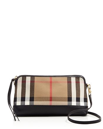 Burberry - House Check Derby Small Abingdon Clutch