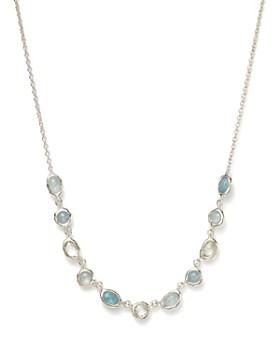 "IPPOLITA - Sterling Silver Rock Candy® Semi-Precious Multi-Stone Doublet Necklace in Light Blue, 15"""